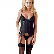 Cottelli Wet Look Black Basque