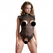 Cottelli Cupless and Crotchless sheer Body