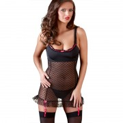Deluxe Lingerie Dress With Heart Pattern