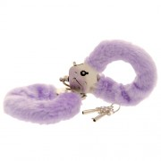 Toy Joy Furry Fun Cuffs Purple Plush