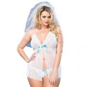 Leg Avenue Mesh Babydoll  and  GString UK 1618