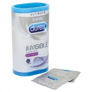 Durex Invisible Extra Lubricated 12 Pack Condoms