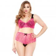 Fantasy Curve Eyelash Lace Bra Set UK 1618