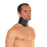 Leather Collar with Padlock