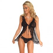 Babydoll and GString Black